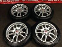 JDM ACURA RSX DC5 SILVER MAGS WITH BRIDGESTONE WINTER TIRES