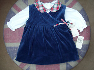 NEW Ralph Lauren Velour Party Dress w/ Onesie NWT Size 6m
