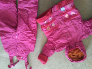 3T girl's snow suit and  a jacket