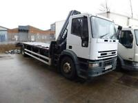 IVECO-FORD SUPERCARGO 2002 hiab beavertail recovery truck export px tilt slide