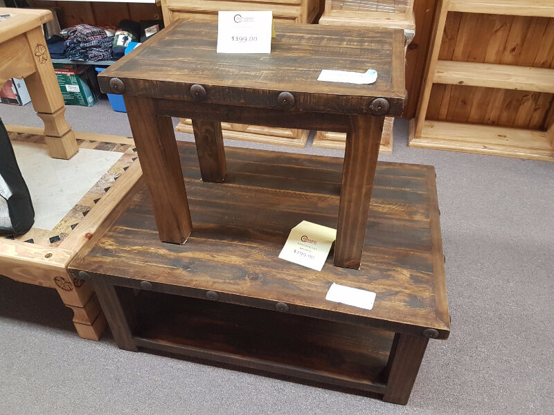 Handmade rustic coffee table end table coffee tables for Coffee tables ottawa