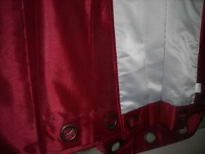 NEW LINED SHANTUNG SATEEN CURTAINS