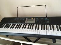 Brand new Casio keyboard turned on once, as new with box stand and music stand