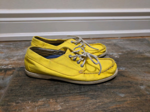 Yellow Sperry Boat Shoe