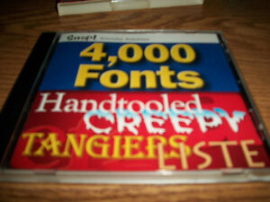 4,000 Fonts, 12000 Clip Art, Your Printer Pack