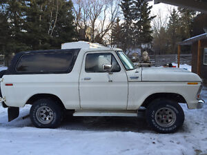 Ford Bronco with body in good shape