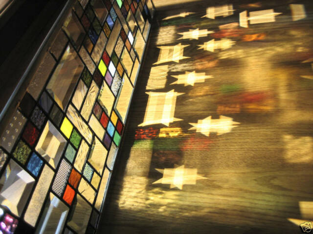 Jazzy Stained Glass Window Panel EBSQ Artist