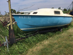 16' sailboat with trailer. Evans 16