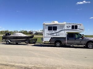 2014 F350Truck /Arctic Fox 811 Camper With Lund  Boat Package