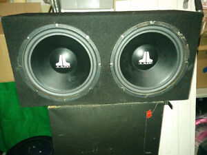 """Pair of JL 12"""" SubWoofer and Bazooka  Power Amp"""