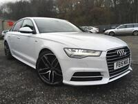 2015 Audi A6 Saloon 2.0 TDI ultra ( 190ps ) ( s/s ) Tronic S Line+ PEARL WHITE