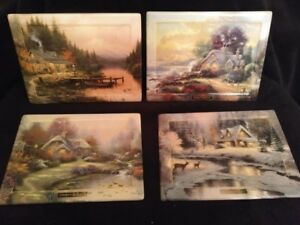 Thomas Kinkade's Seasons of Reflection collector plates