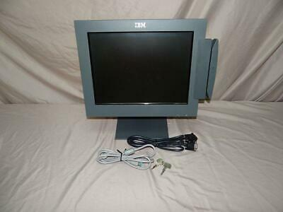 Ibm Surepoint 15 Touchscreen Pos Monitor 4820-5gb With Cables And Card Reader