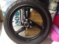 "Honda Fireblade 17"" front wheel and tyre"
