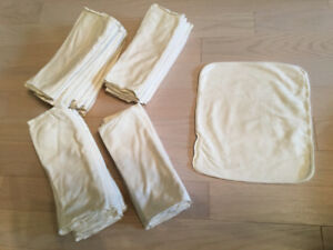 32 Applecheeks Bamboo 2-ply Inserts for Envelope Cloth Diapers