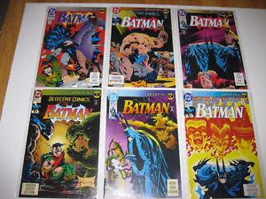Batman comics-complete Knightfall series