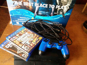 MINT 500GB PS4, 2 GAMES, CONTROLLER, CORDS (OR BEST OFFER)