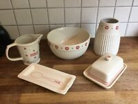 Laura Ashley collection of ceramic kitchenware - Great condition