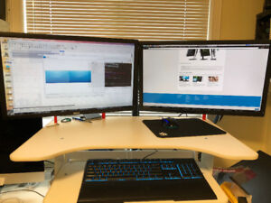 Selling 2 x Dell UltraSharp 2713HM 2560X1440 in mint condition