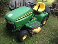John Deere ltr166 ride on mower