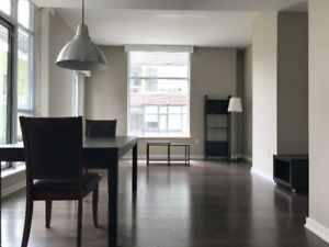Luxury  one bed one Den condo suite in  Olympic Village for rent