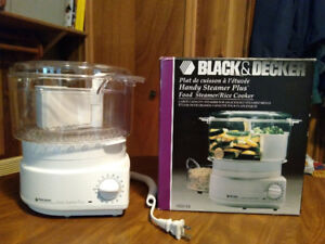 Black and Decker Handy Steamer Plus and Rice Cooker.