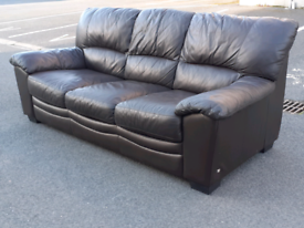 3 Seater Sofa Brown Leather Sofa