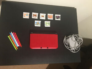 Nintendo 3DS XL (Red) - 7 Games - 1 Charger - 7 Extra Pens