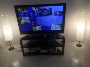 """48"""" inch LG TV with tv stand and playstation 3 with 15 top games"""