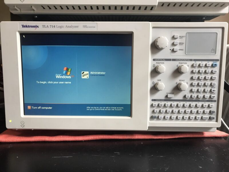 TLA714 Logic Analyzer 2x TLA7N4 WinXP 4GB CF 384MBRAM WiFi CardTested Ships Free