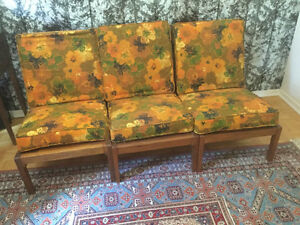3 chair Filipino Mahogany couch/ chair set