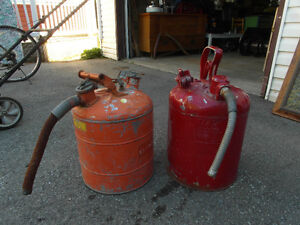 Two Vintage Gas Cans