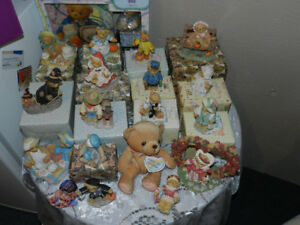 for sale a group of cherished  teddies -- new price $200.00 for