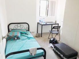 Single bed and mattess