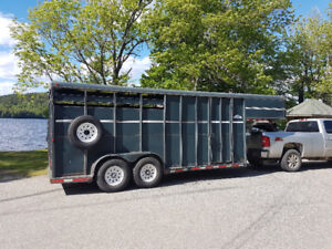 Gooseneck Stock combo slant load trailer with front tack.