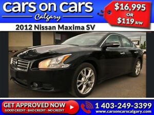 2012 Nissan Maxima SV w/Leather, Sunroof $119 B/W INSTANT APPROV