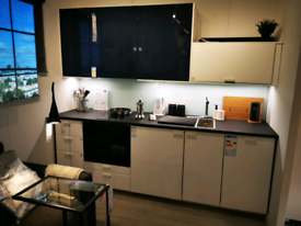 Kungsbacka white, Jutis Blue, full kitchen with appliances, WAS £3783
