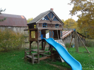 Kids play structure/Climber/Double Swing Set
