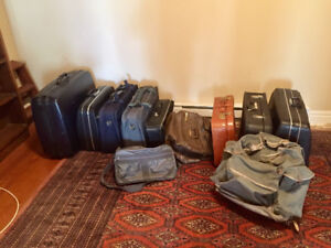 Lots of suitcases and other bags!