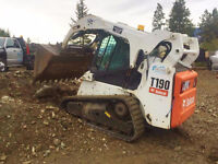 Bobcat/mini excavator/dump trailer/flatdeck for light hauling