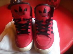 Adidas high cut running shoes