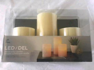 LED Vanilla Pillar Candles  $20