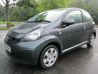 08/58 TOYOTA AYGO + 1.0 VVT-I 3DR HATCH IN MET GREY WITH ONLY 63,000 MILES