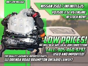 JDM Nissan 350z VQ35DE 3.5L V6 Engine Infiniti G35 03-04 RWD