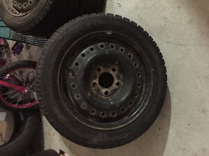 Hankook Winter Tires with Rims 195/55R15