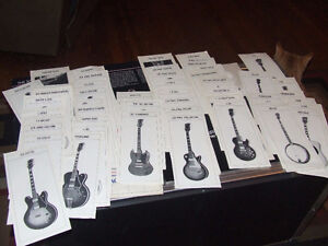assorted rare Gibson guitar collectables