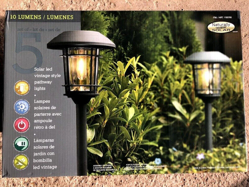 Naturally Solar Garden Light purchased from COSTCO ...