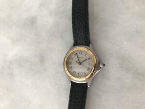 Authentic Vintage Cartier Cougar two tone ladies watch