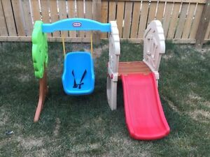 Little Tikes swing and slide play set