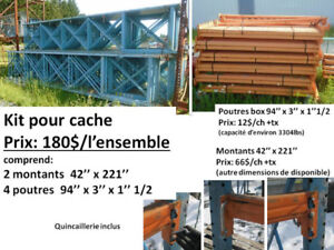 racking, support pour cache de chasse